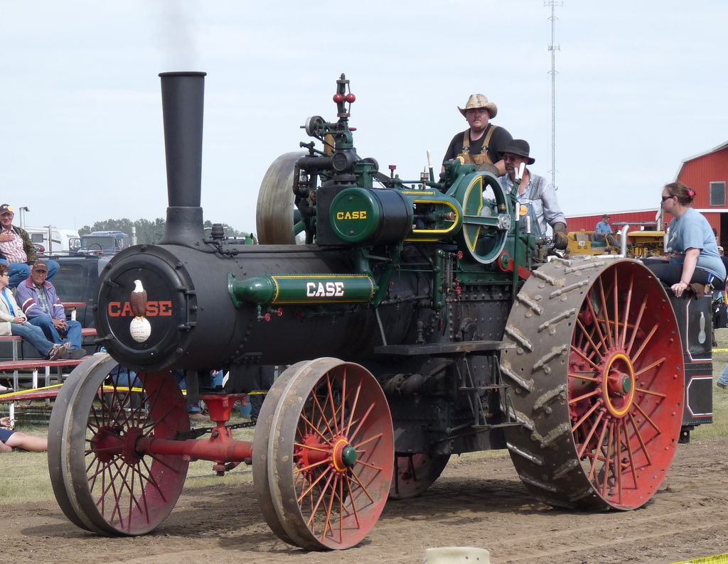 picture of old Case steamer