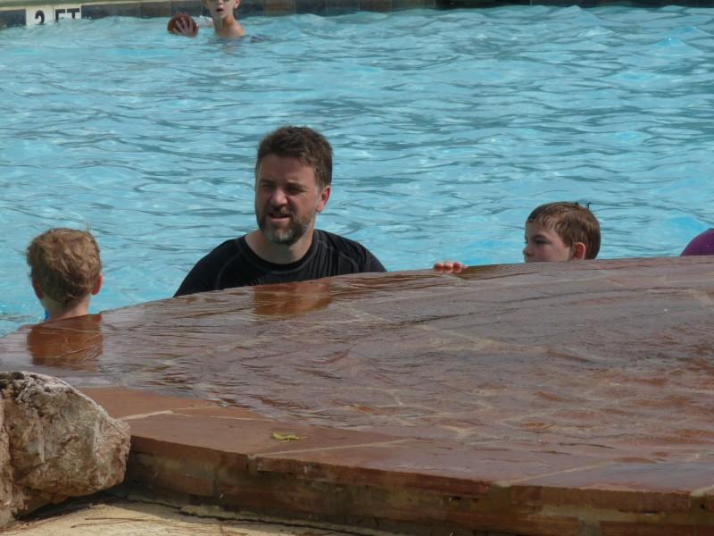 Brock the swimming man