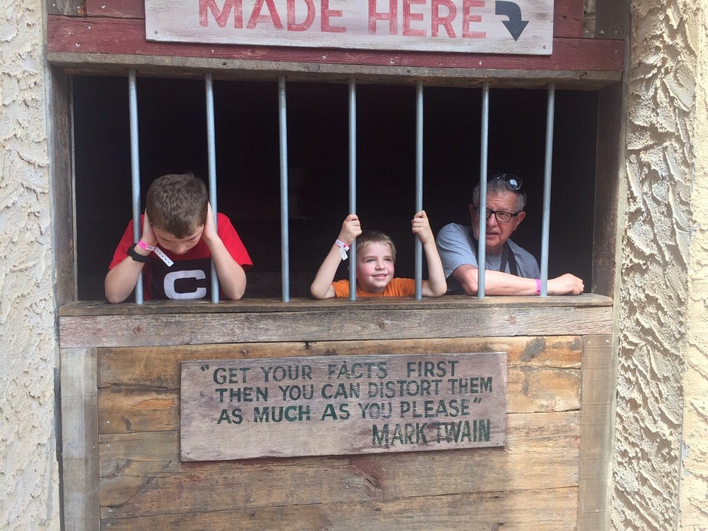 Davison, Brock, and Grandpa Ron end up in jail.
