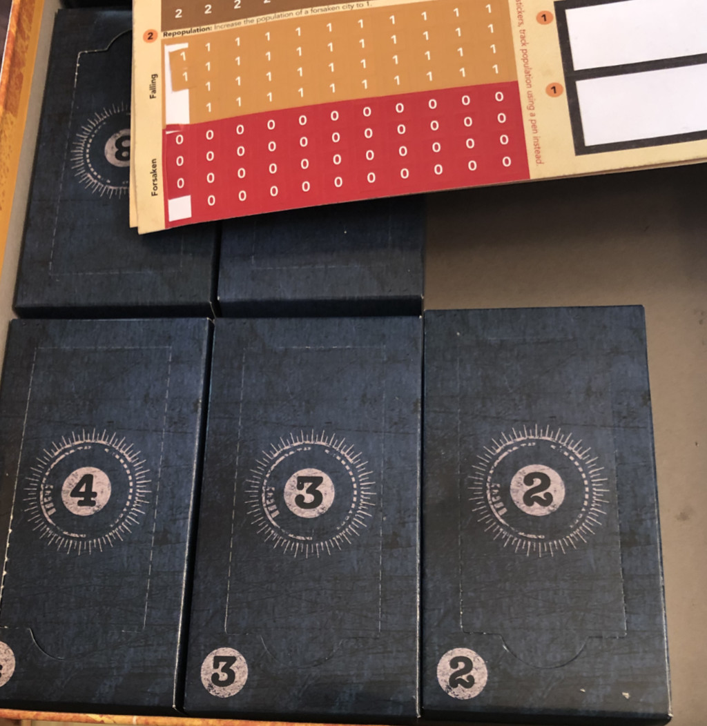 Pandemic Legacy card boxes