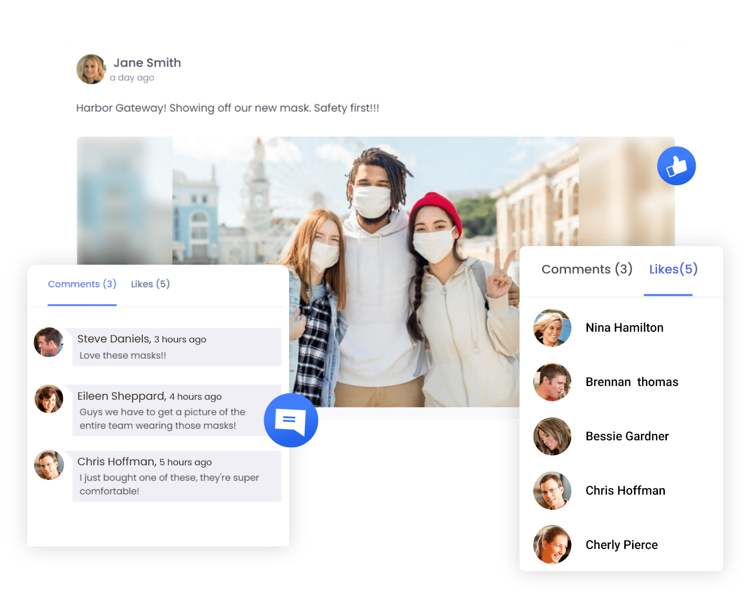 social feed features