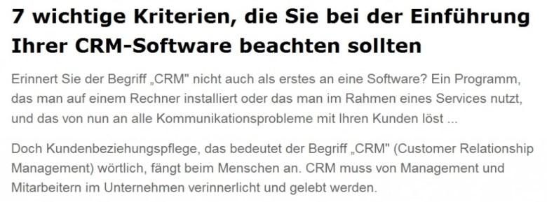 Kriterien-CRM-Software-Einfuehrung