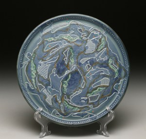 Blue Carved Platter72