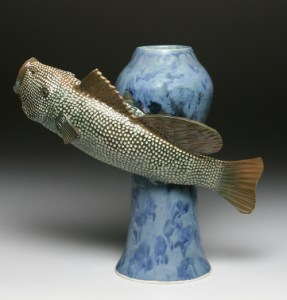 1 Big Mouth Fish Vase