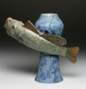 1 Big Mouth Fish Vase