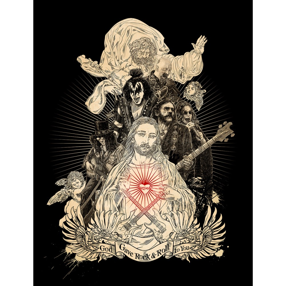 God Gave Rock & Roll to You Hard Rock Print