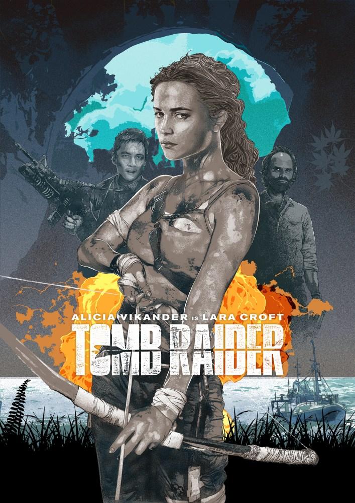 tomb raider 2018 new movie poster illustration added