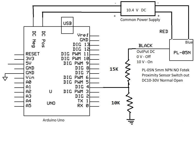PL-05N 5mm NPN NO Fotek Proximity Sensor Switch out DC10
