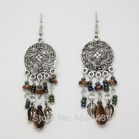 Women Bohemian Round Earring Girls Earring Beaded Earrings