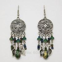Women Bohemian Round Earring Girls Earring Beaded Earrings ...