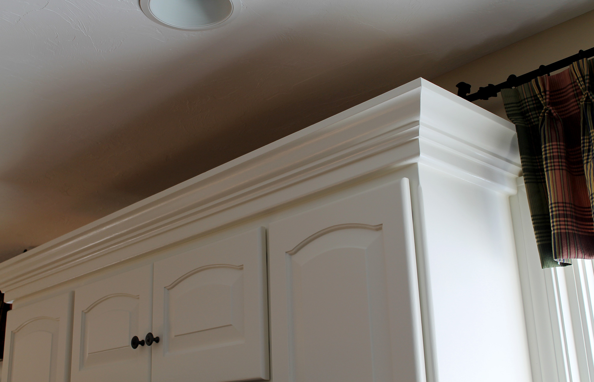 decorative molding kitchen cabinets black and white rug crown is a must hubley painting