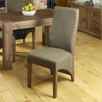 Sierra solid dark wood walnut furniture set of six ...