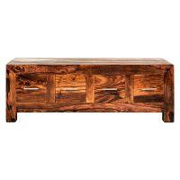 Taj solid sheesham furniture storage coffee table with drawers
