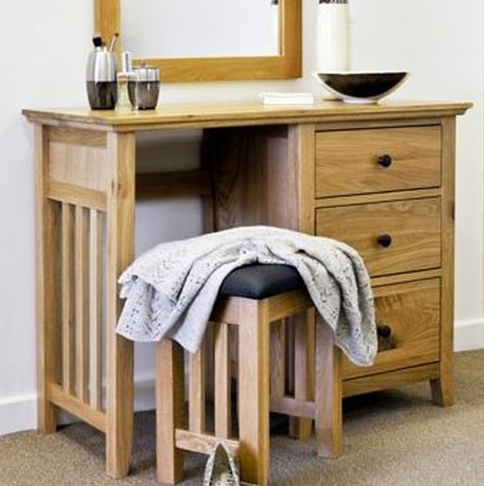 bedroom dressing table chair foldable adirondack plans belfry solid oak furniture small ebay