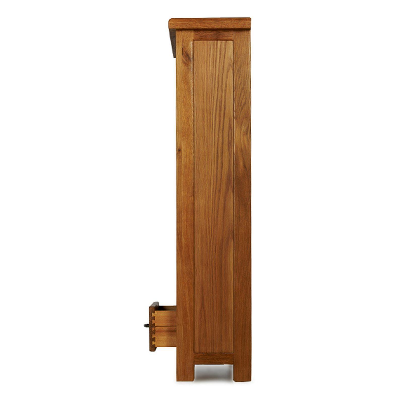 Rushden solid oak furniture CD DVD storage cabinet rack