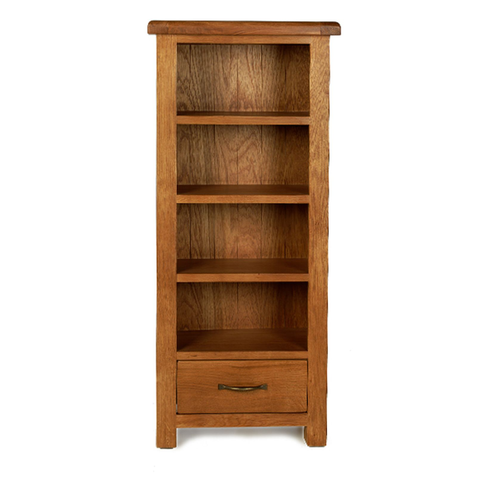 Rushden solid oak furniture CD DVD storage cabinet rack