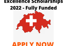 Photo of Swiss Government Excellence Scholarships 2022 – Fully Funded
