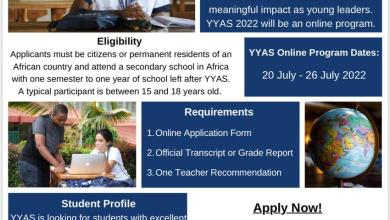 Photo of Yale Young African Scholars for African secondary school students