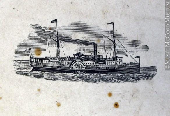 McCord Museum, Gravure - Bateau à vapeur - M991X.5.659