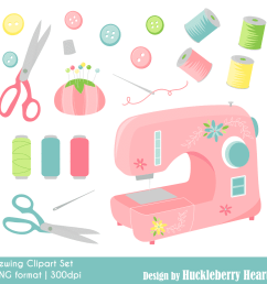sewing clipart [ 1000 x 1000 Pixel ]