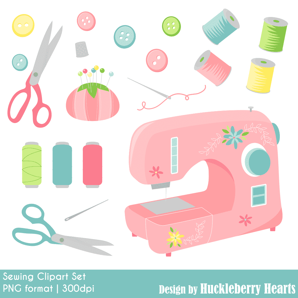 hight resolution of sewing clipart