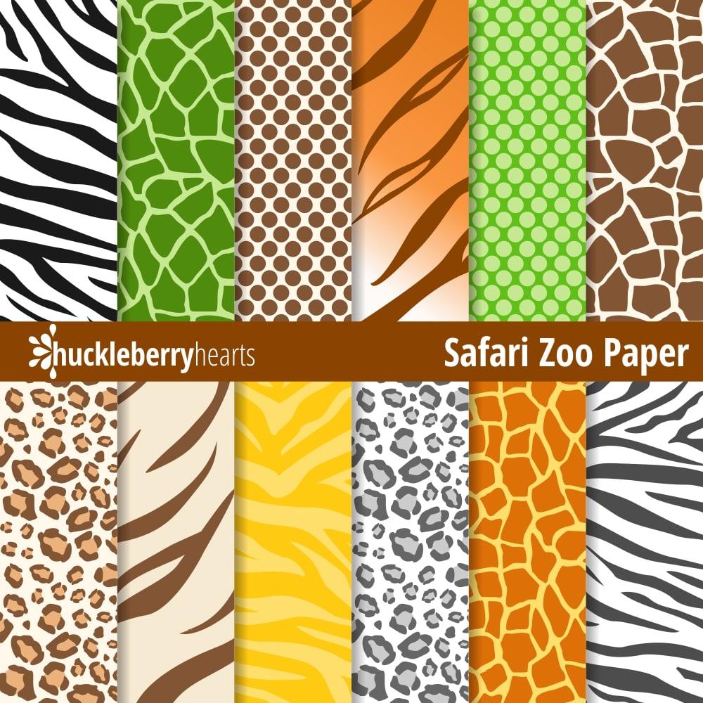 safari zoo animal prints