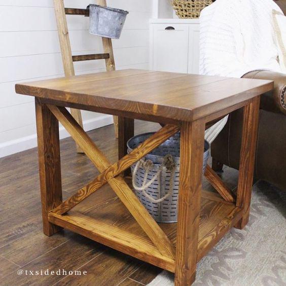 Farmhouse X Side Table