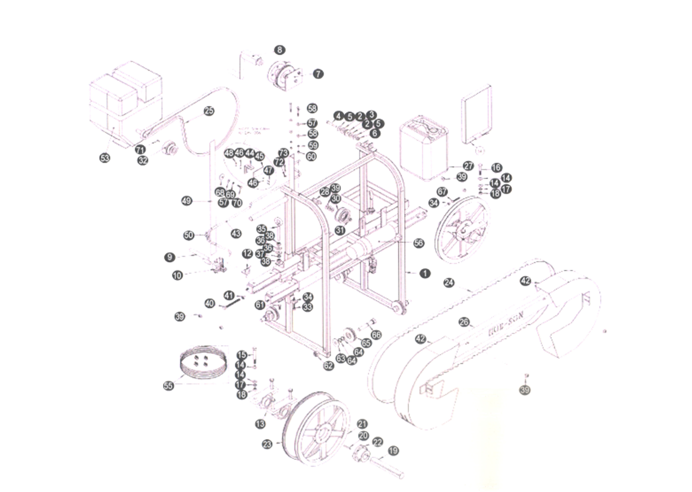 Hfe 21 Homesteader Mill Parts