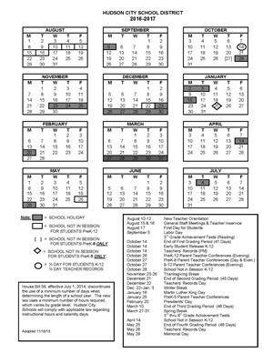 School Year Calendar / School Years
