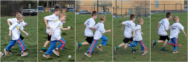 Owen and Colton running collage