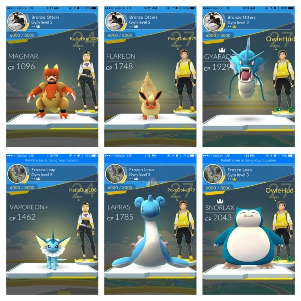 Pokemon gyms