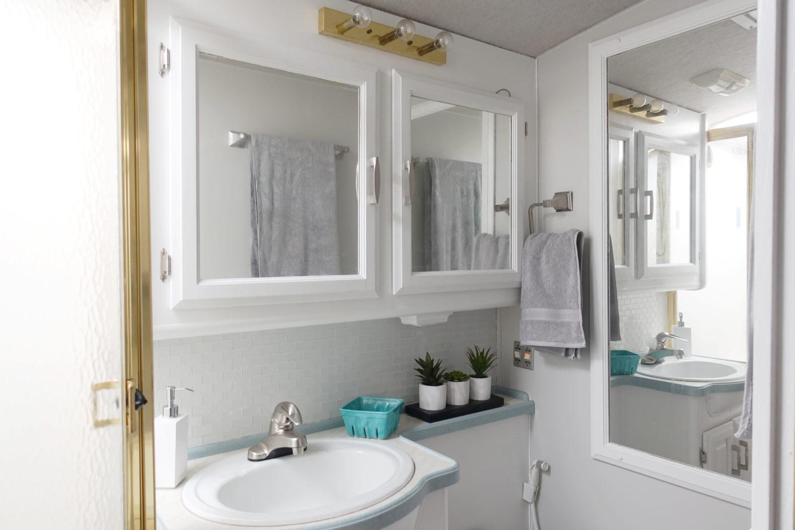 RV Bathroom Hardware Upgrade  Hudson and Emily