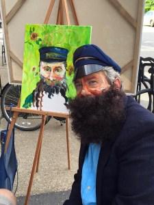 Vincent's friend, the mailman