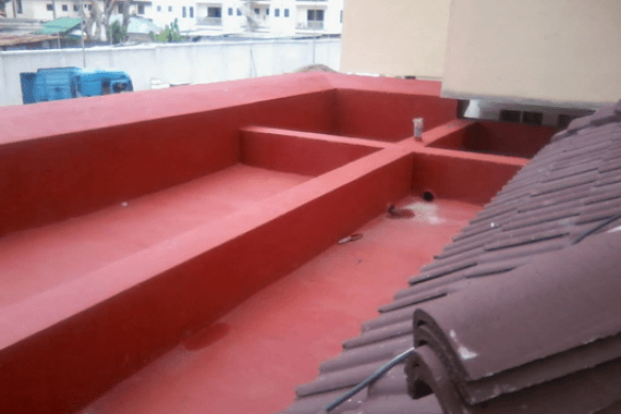Waterproofing of Roof Terrace Using New Coat2