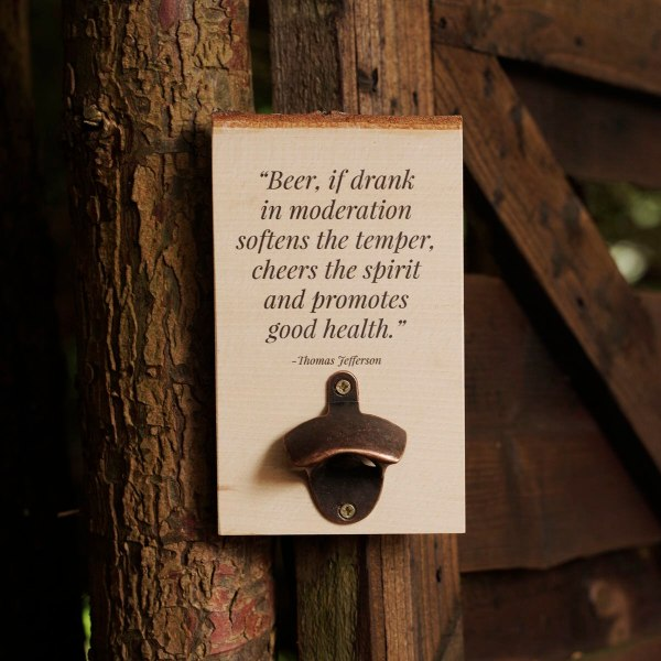 This Wooden Wall Mounted Bottle Opener is perfect for the bear lover in your life