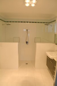 Double shower in new bathroom