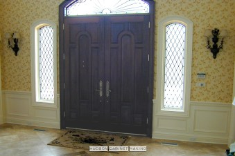 wainscot foyer doorway