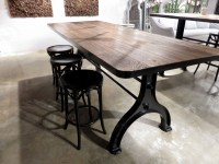 Industrial Iron Base Dining Table
