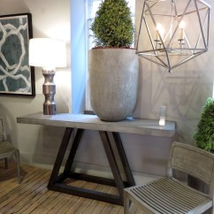 Industrial Metal Chairs Costco Outdoor Folding Concrete Stone Console Table - Hudson Goods Blog