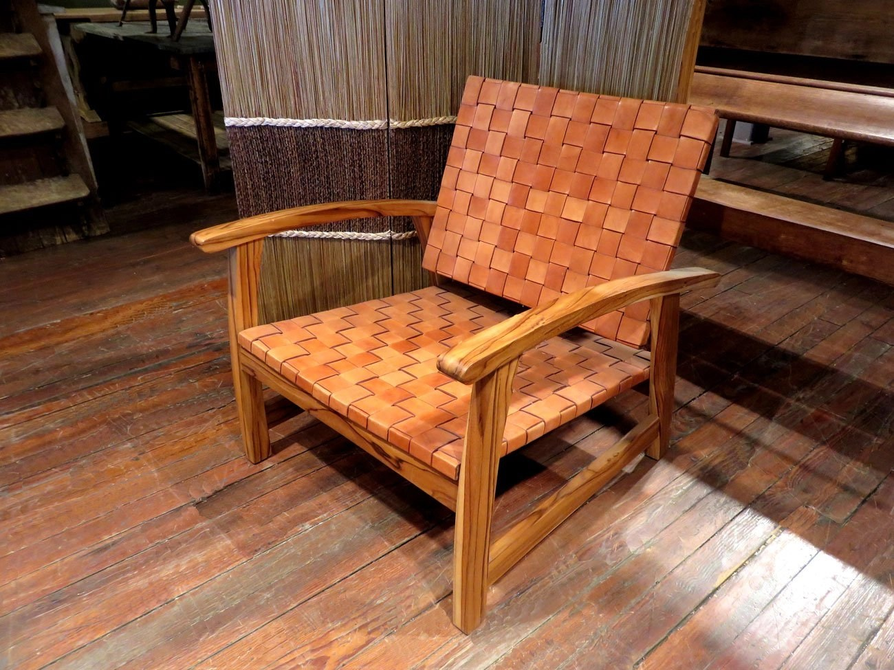 Leather Strap Lounge Chair  Hudson Goods Blog