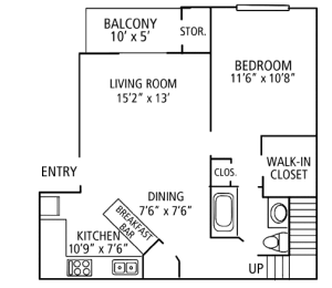 1 Bed / 1 Bath / 650 sq ft / Please Call