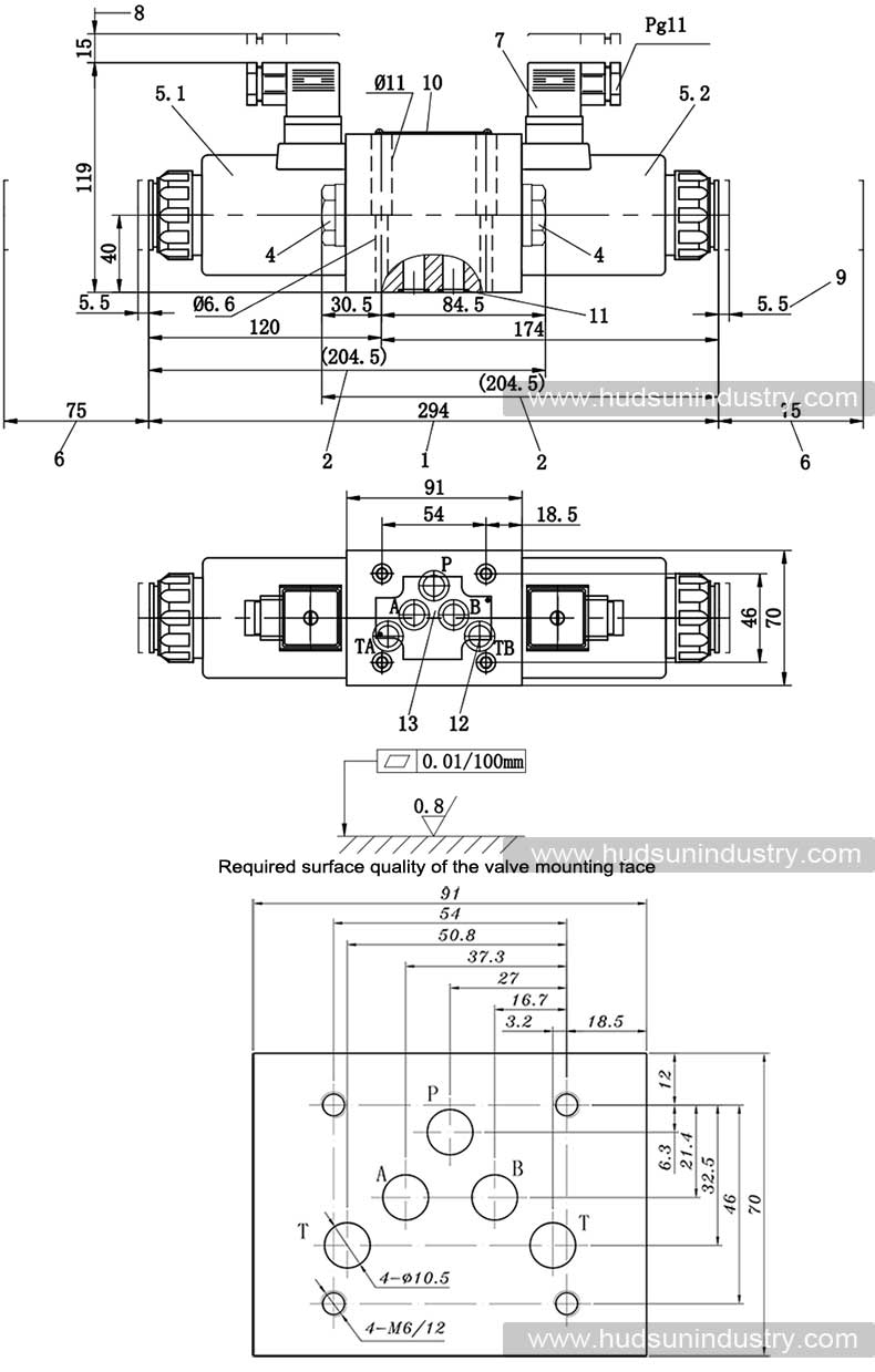 hight resolution of solenoid operated directional control valve we10 ng10