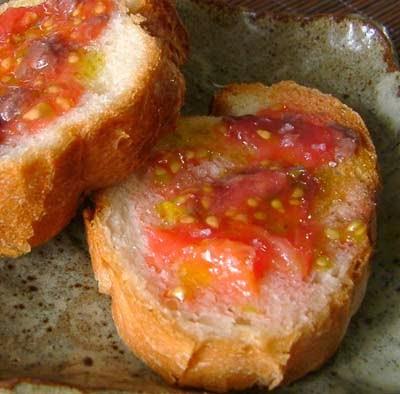 pan con tomate delicioso