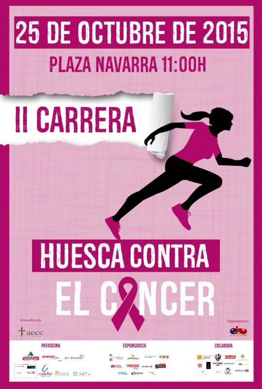 cartel carrera contra el cáncer