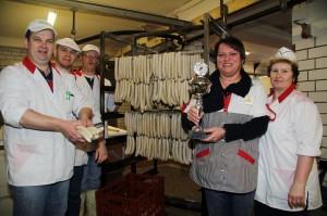 Die GEUE Rostbratwurst wurde mit dem 1.Preis ausgezeichnet