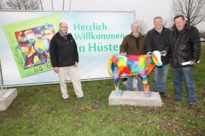 Der Künstler Ullirich -Steinwender, Helmut Melchert , Willi Tillmann , Rupert Schulte v. Heimatkreis