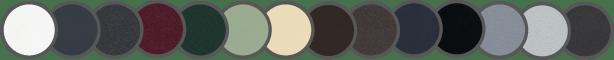Nuancier couleurs portes entrée Aluminium STYLIUMDOOR