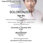 yijie shi - solokonzert november 2010