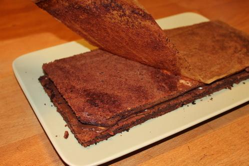 Schichten des Nutellakuchens 7027