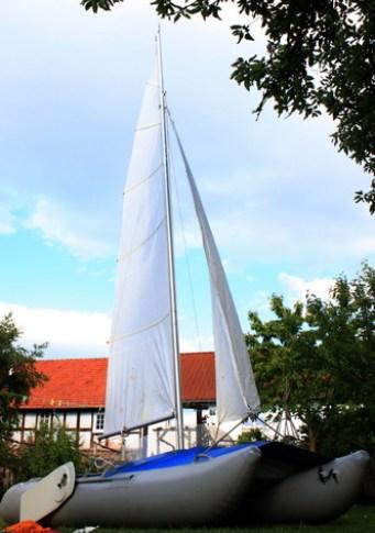 Boot im Garten 5953